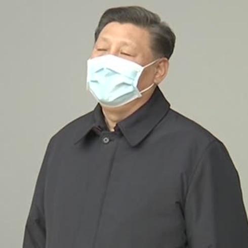Presidente chino se deja ver con mascarilla