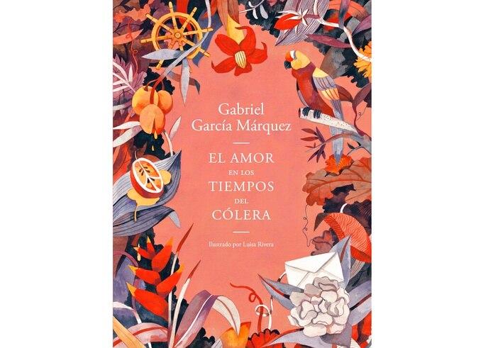 """La portada del libro """"El amor en los tiempos del cólera"""", en una edición ilustrada por Luisa Rivera."""