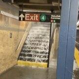 Tormenta Elsa deja bajo agua al tren de Nueva York