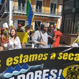 Alcaldes de la montaña protestan en Fortaleza por la falta da agua