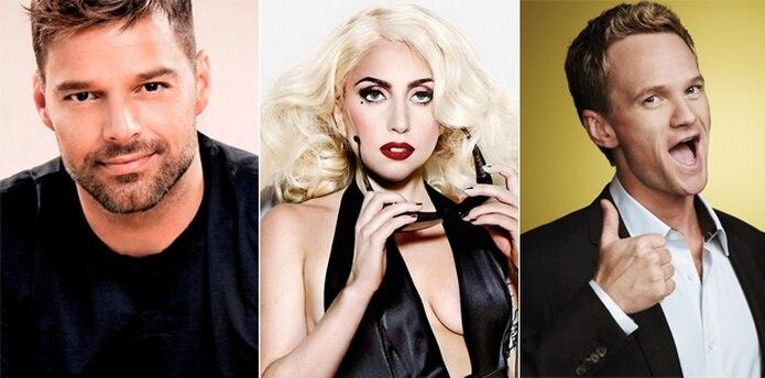 Ricky Martin, Lady Gaga y Neil Patrick Harris celebraron la decisión de la Corte Suprema.