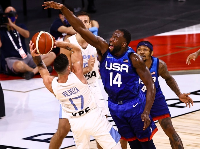 Draymond Green (14) es uno de los jugadores dentro del roster de Estados Unidos con experiencia en unos Juegos Olímpicos.