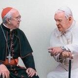 ¿Un papa bueno y otro malo? Hopkins y Pryce protagonizan el drama vaticano