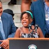 """Nieta de 12 años de Martin Luther King: """"Nuestra generación desmantelará el racismo"""""""