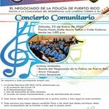 Policía invita a concierto comunitario en residencial Luis Llorens Torres