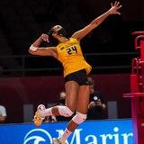 Aury Cruz está a gusto con el formato de juego del novel torneo de voleibol de Athletes Unlimited