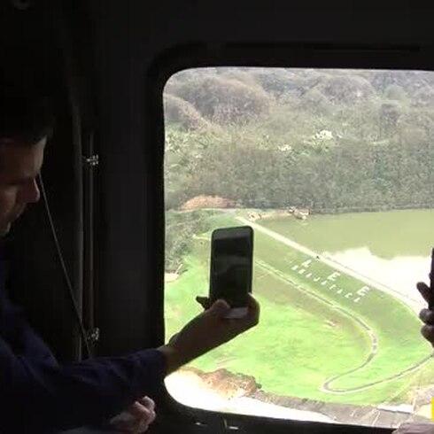 Rosselló sobrevuela la represa de Guajataca