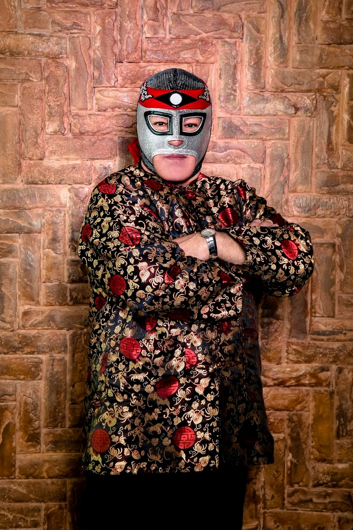 Fotografía cedida este viernes, cortesía de Multienfoque, en la que se observa al luchador mexicano Octagón, presidente de la Asociación Nacional de Luchadores Profesionales Independientes.