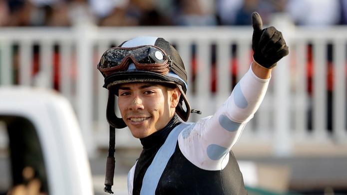 José Ortiz está a gusto con Greatest Honour, el potro que lidera los puntos de clasificación para el Kentucky Derby de mayo.
