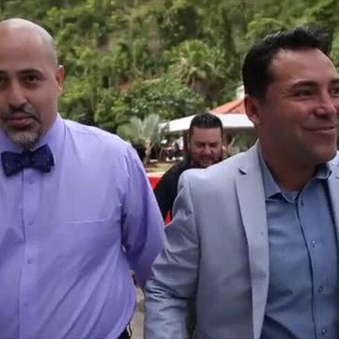 """Lo que no se vio de la visita de Oscar de la Hoya y Saúl """"Canelo"""" Álvarez"""