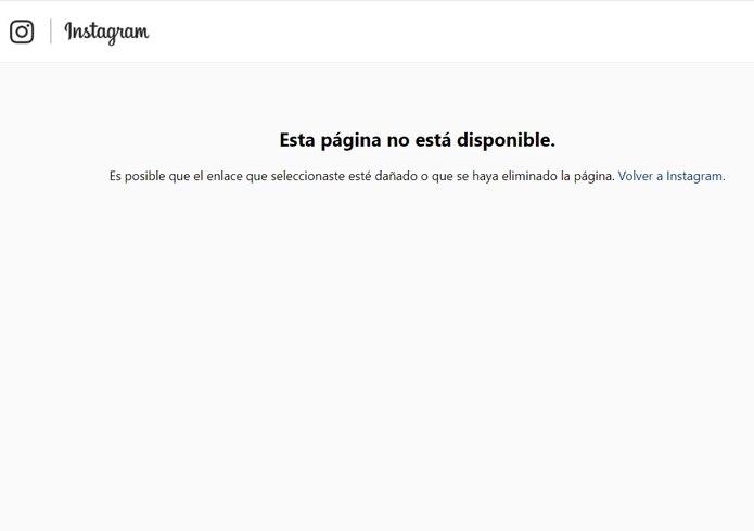 La página del artista está desactivada.