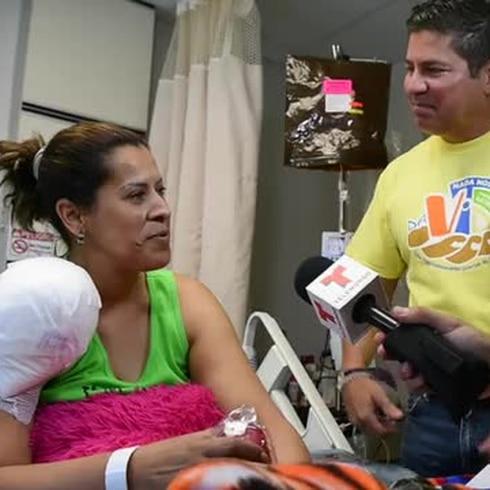Raymond Arrieta da alegría en el Hospital Oncológico