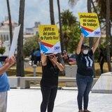Empleados de WIPR exigen se detenga la privatización del canal