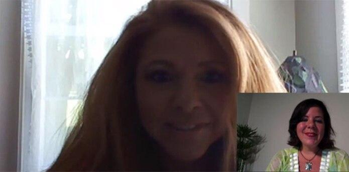 Vicki Monroe realizó una sesión con Alejandra Jover Tovar (en el recuadro). (skype)