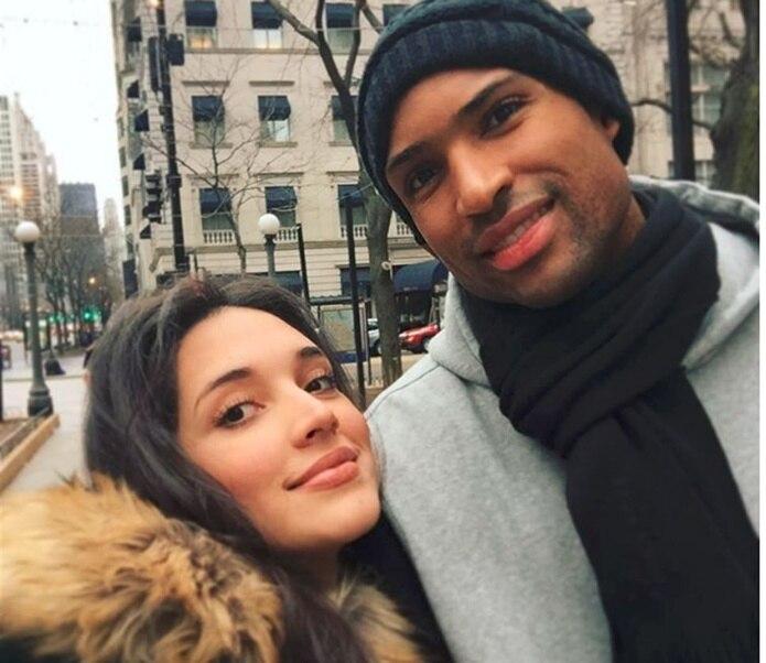 Amelia y su esposo el baloncelista profesional Al Horford. (Instagram)