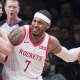 Carmelo Anthony no jugará más con Rockets