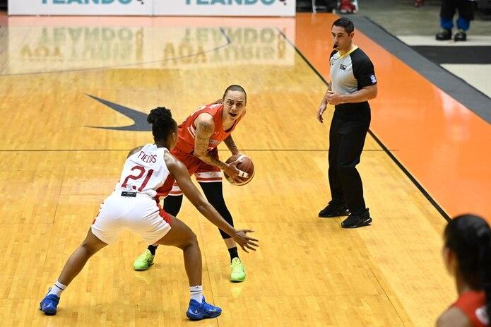 Jazmon Gwathmey fue la mejora anotadora por Puerto Rico con 17 puntos.