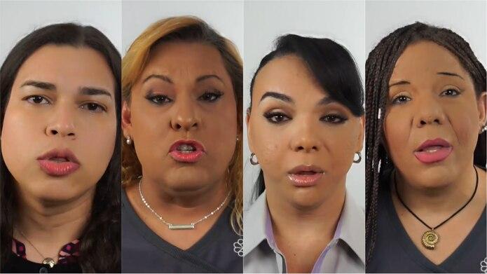 María Leonor Avilés, Shakira González, Sachelle Pagán y Kimberly Vázquez