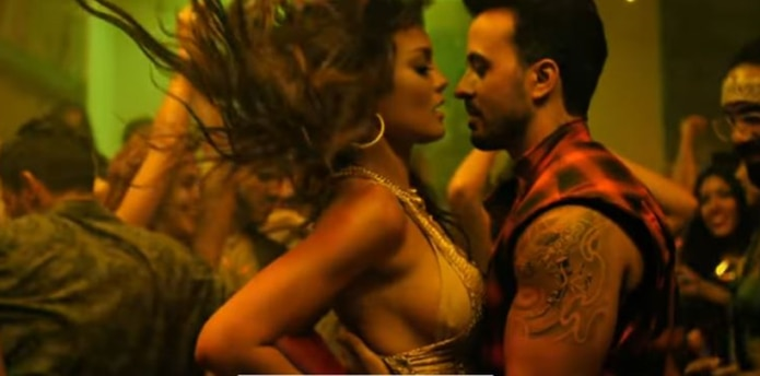 Zuleyka Rivera junto a Luis Fonsi en el vídeo. (Foto/Captura)