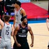 Los 76ers se ponen a mitad de camino contra los Wizards y un lastimado Russell Westbrook