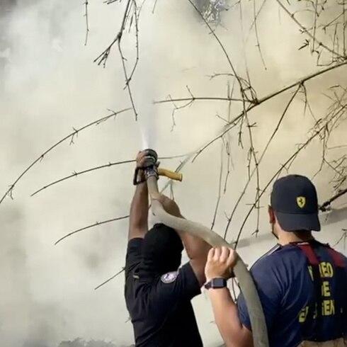 """Fuego de """"grandes proporciones"""" en Cayey"""