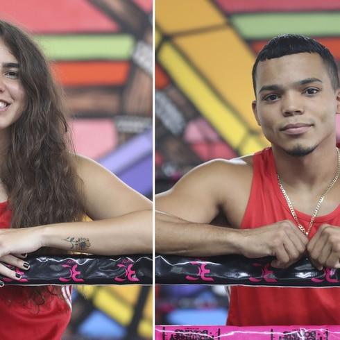 Boxeadores graban campaña contra la violencia de género