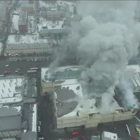 Un incendio mortal en un centro comercial de Rusia
