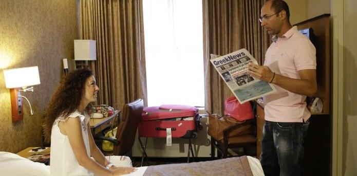 Los recién casados regresan a Grecia el viernes. (AP/Mary Altaffer)