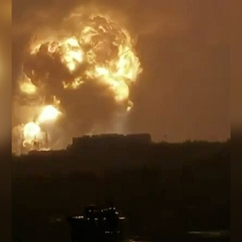 Enorme explosión sacude al centro de China