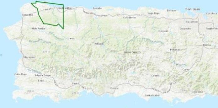 El Servicio Nacional de Meteorología emitió en la tarde de ayer, viernes, una advertencia de inundaciones repentinas para los pueblos de Isabela y Quebradillas.   (Twitter/NWS)