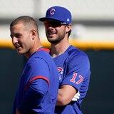 El tercera base de los Cubs Kris Bryant recibió un mensaje de texto que le daba la bienvenida a los Mets