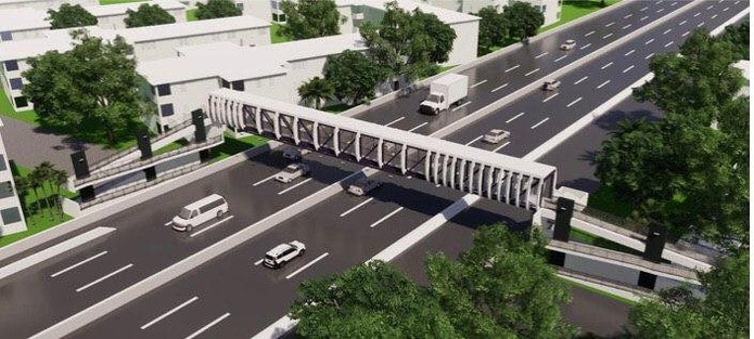 Imagen de uno de los nuevos puentes, los que fueron demolidos por los daños ocasionados tras el huracán María (2017).