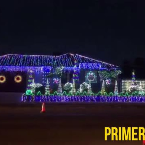 Transforman casa en un impresionante espectáculo de luces