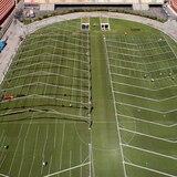 Estadio en Sao Paulo, Brasil, se transforma en hospital