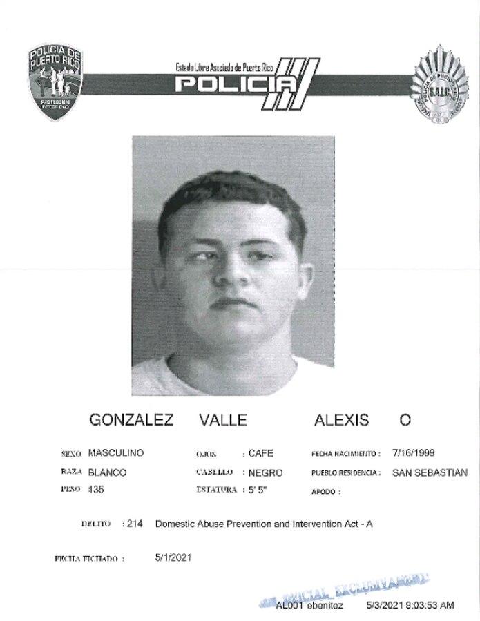 La jueza Dinorah Mártir Hau, del Tribunal de Aguadilla, determinó causa para arresto por violar la Ley 54 para la Prevención e Intervención con la Violencia Doméstica contra Alexis Omar González Valle de 21 años, residente de San Sebastián.