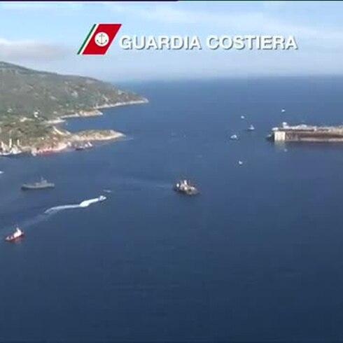 Regresan los restos del Costa Concordia