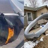 Caen partes de un avión en Colorado tras sufrir problemas con un motor