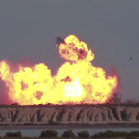 Mira cómo explotó otra nave de SpaceX