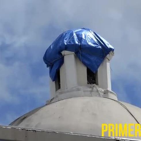 Un rayo destruye la cúpula de iglesia en Vega Alta