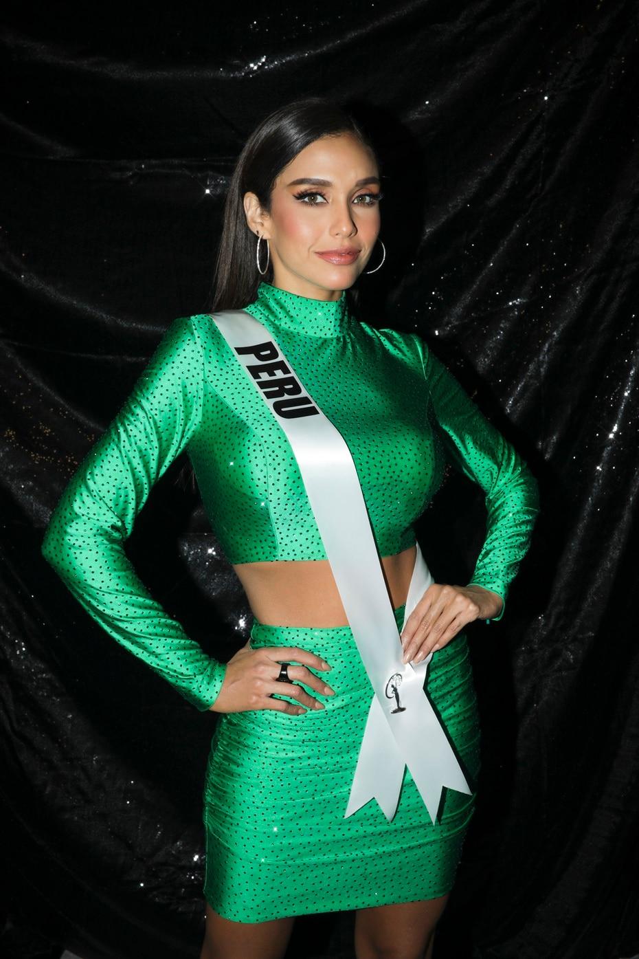 Miss Perú tras bastidores.