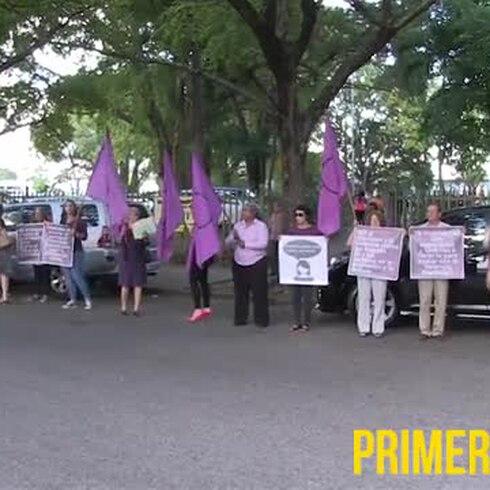 Manifestación en Caguas en espera de sentencia