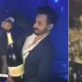 Pagó $43,000 por un champán y lo desperdició en un segundo