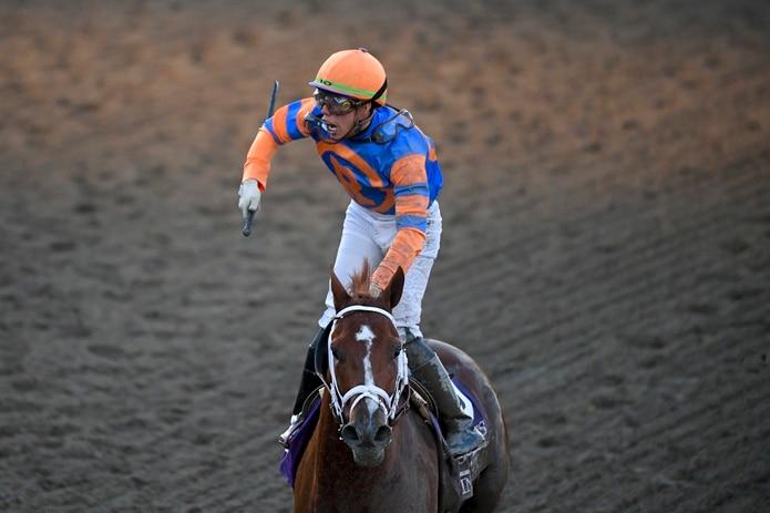 Irad Ortiz Jr montará a Midnight Bourbon en el Preakness. (AP Photo/Mark J. Terrill)