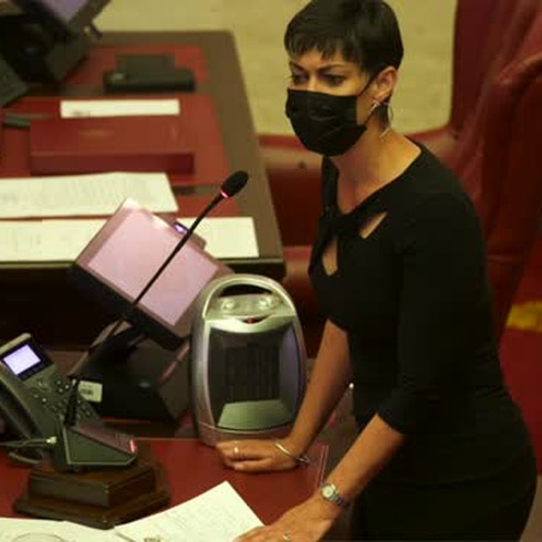 """María de Lourdes Santiago: """"Hay hombres que son capaces de violar, torturar y matar a mujeres"""""""