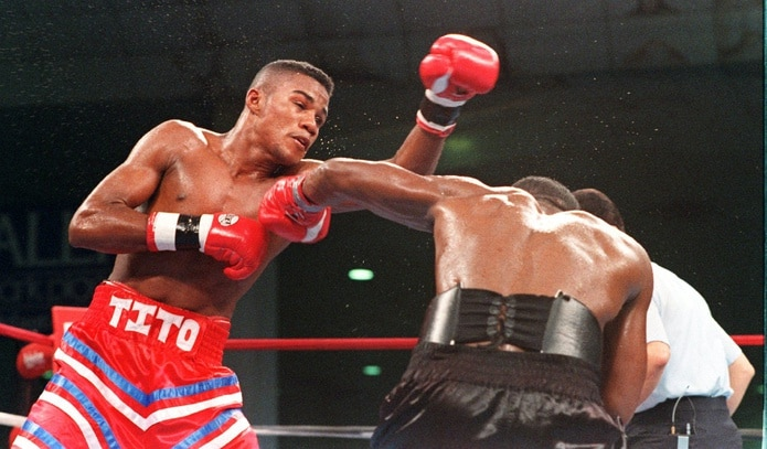 El único combate de Félix Trinidad en Atlantic City ocurrió el 18 de noviembre de 1995 cuando noqueó a Larry Barnes en el cuarto asalto.
