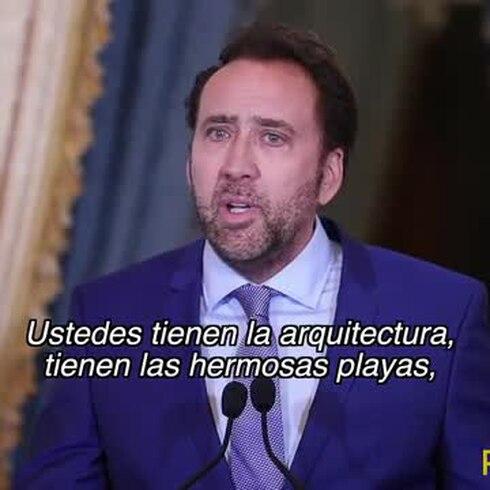 Mira lo que Nicolas Cage dijo de Puerto Rico cuando llegó al país