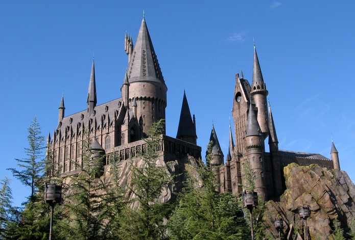 "El castillo de ""Harry Potter"" en el parque temático Universal's Islands of Adventure."