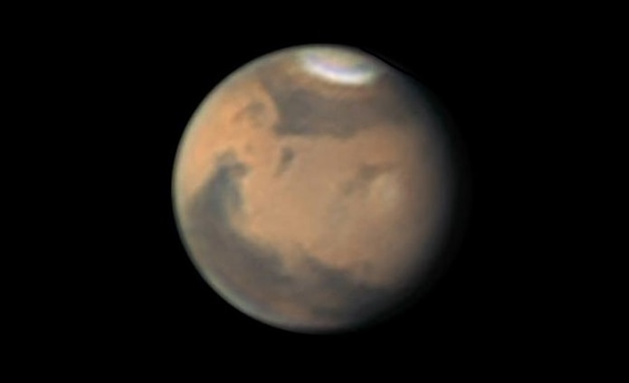 Esta imagen del planeta Marte fue captada desde Aguadilla. (Efraín Morales / SAC)
