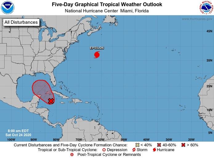 El sistema en el Caribe tiene una alta probabilidad de desarrollo ciclónico.