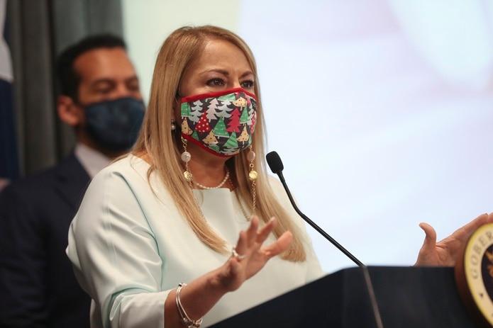 La saliente gobernadora Wanda Vázquez.